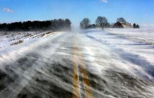 عکس/ جاده یخ زده