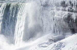 تصویری زیبا از یخزدگی آبشار نیاگارا