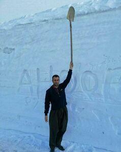 عکس/ بارش سه متر برف در کردستان