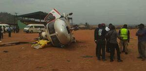 عکس/ سقوط هلیکوپتر معاون رییس جمهور نیجریه
