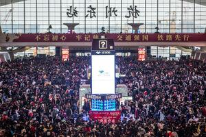 عکس/ ترافیک سنگین در فرودگاههای چین