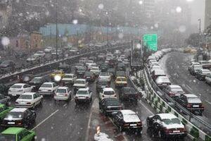 فیلم/ بارش برف در شمال تهران
