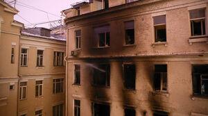 عکس/ آتش سوزی مرگبار در ساختمان مسکونی