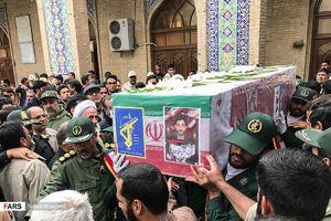 تشییع پیکر شهید حادثه تروریستی نیکشهر در زاهدان