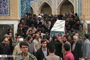 عکس/ تشییع پیکر شهید حادثه تروریستی نیکشهر