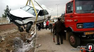 عکس/ تصادف شدید پرشیا در جاده خاوران