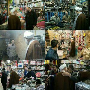 عکس/ حضور بدون تشریفات امام جمعه قزوین در بازار