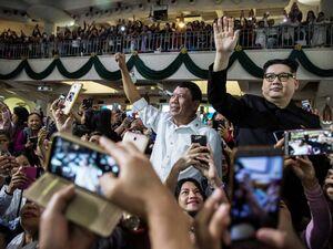 عکس/ بدل رهبرکره شمالی در فیلیپین