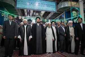 فیلم/ رئیس قوه قضائیه در حرم مطهر امام (ره)