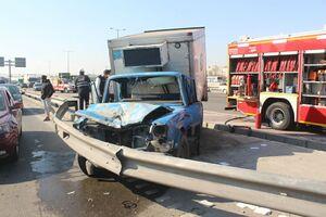 تصادف شدید در بزرگراه آزادگان +عکس