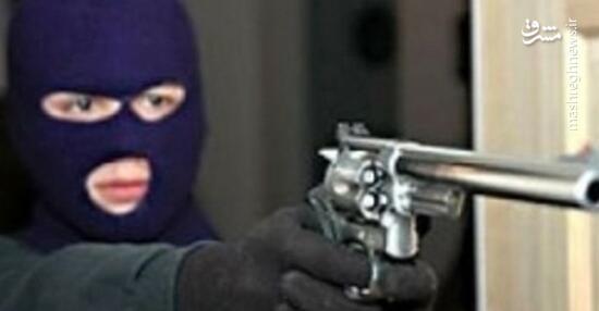 فیلم/ لحظه سرقت مسلحانه گروهی از یک خانه!