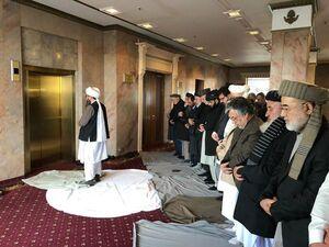 عکس/ نمازجماعت رهبران سیاسی افغانستان و طالبان