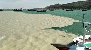 پدیده دریای دو رنگ در سیستان وبلوچستان +فیلم
