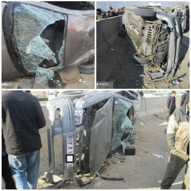 ۳ کشته در تصادف تریلر حامل خودرو با تیبا+عکس