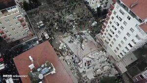 عکس/ فروریختن وحشتناک ساختمان 8 طبقه