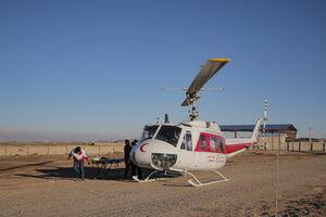 عکس/ مانور بهداشت و درمان اضطراری و امدادی هلال احمر در بوئین زهرا