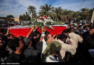 عکس/ مراسم تشییع پیکر شهید حادثه خرم آباد