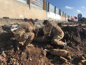 عکس/ کشف بمبهای جنگجهانیدوم در فرودگاه