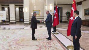 عکس/ دیدار سفیر جدید ایران در ترکیه با اردوغان