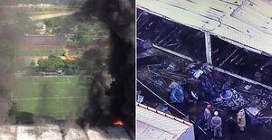 آتشسوزی مرگبار در باشگاه فلامینگو برزیل +عکس