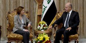 دیدار وزیر دفاع فرانسه با رئیس جمهوری عراق