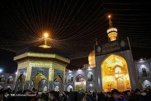 عکس/ شب شهادت حضرت زهرا (س) در حرم مطهر رضوی