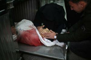عکس/ وداع دردناک با شهید 14ساله فلسطینی