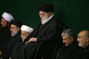 عکس/ آخرین شب مراسم عزاداری حضرت زهرا (س) در حضور رهبرانقلاب