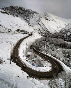 عکس/ نمایی زیبا از جاده چالوس,