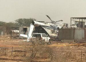 عکس/ سقوط بالگرد نظامی در اتیوپی