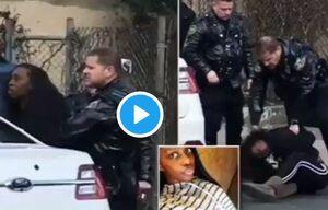 رفتار وحشیانه پلیس آمریکا با یک دختر بیمار +فیلم