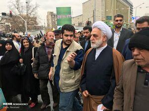 عکس/ محسنی اژهای در راهپیمایی ۲۲ بهمن