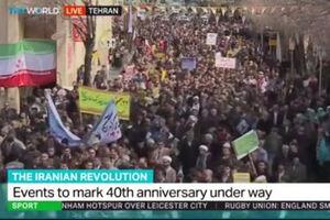 فیلم/ پوشش زنده راهپیمایی ۲۲ بهمن توسط شبکهTRT