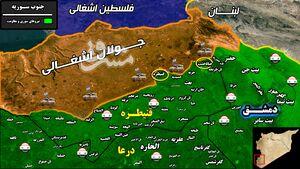 جزئیات حملات خمپاره ای رژیم صهیونیستی به استان قنیطره سوریه + نقشه میدانی