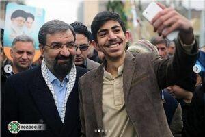 حضور محسن رضایی در راهپیمایی 22 بهمن +عکس