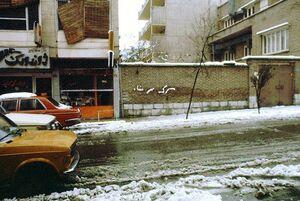 عکس/ «مرگ بر شاه» از جنس برف
