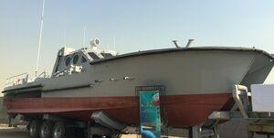 نیروی دریایی سپاه به شناور موشک انداز جدید با سرعت 80 کیلومتر مجهز شد
