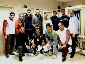 تیم فوتبال ساحلی در فدراسیون پزشکی ورزشی