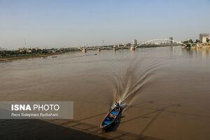 بالا آمدن آب رودخانه کارون در اهواز