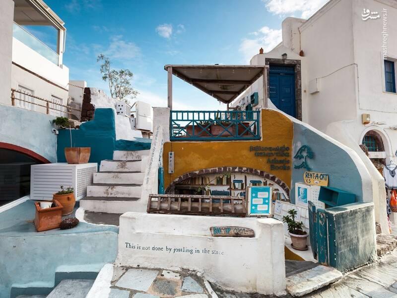 عکس/ جزیره سفید و آبی یونان - 4