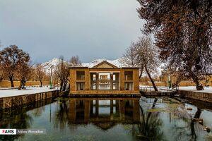 عکس/ زمستانی بینظیر در چشمه علی دامغان