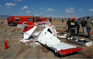 سقوط هواپیمای فوق سبک در کاشمر