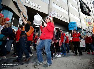 عکس/ اعتصاب معلمان در آمریکا