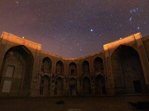 آسمان دیدنی مدرسه غیاثیه شهر خواف +عکس
