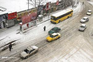 عکس/ بارش برف در اردبیل
