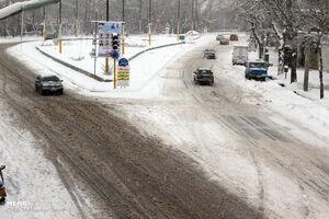 فیلم/ بارش شدید برف در رودهن تهران