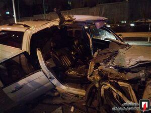 عکس/ برخورد مرگبار خودروی سواری با کامیون