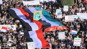 تظاهرات گسترده مردم یمن در حمایت از فلسطین