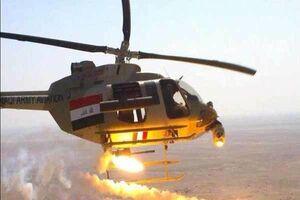 حملات سنگین بالگردهای عراقی به مواضع داعش