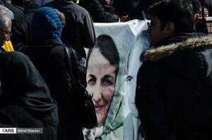عکس/ تشییع همسر دکتر علیشریعتی در شهرری